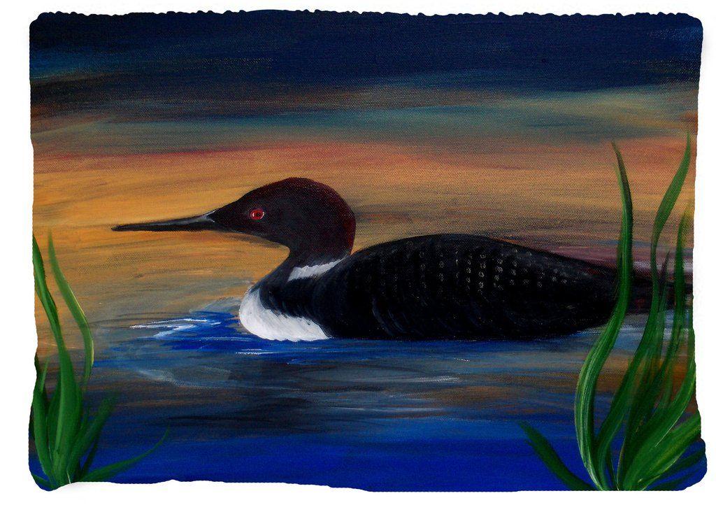 Loon Lake Bird Art Throw Blanket Bird Unique Loon Throw Blanket