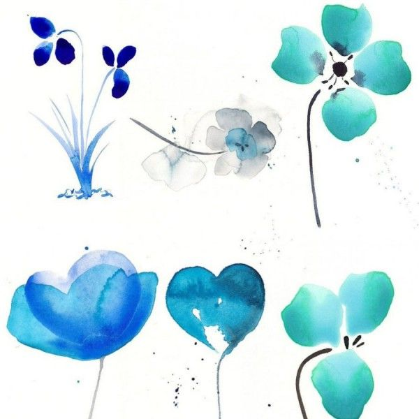 Download Beautiful Watercolor Flowers Photoshop Brushes
