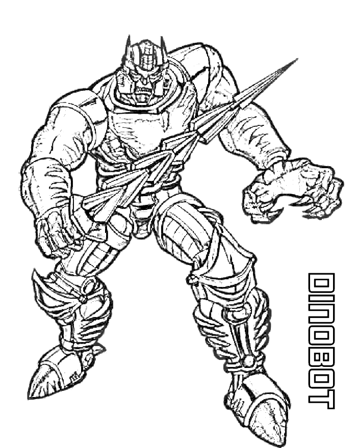 dinobot transformers coloring page transformer coloring pages kidsdrawing free coloring pages online - Transformer Coloring Page