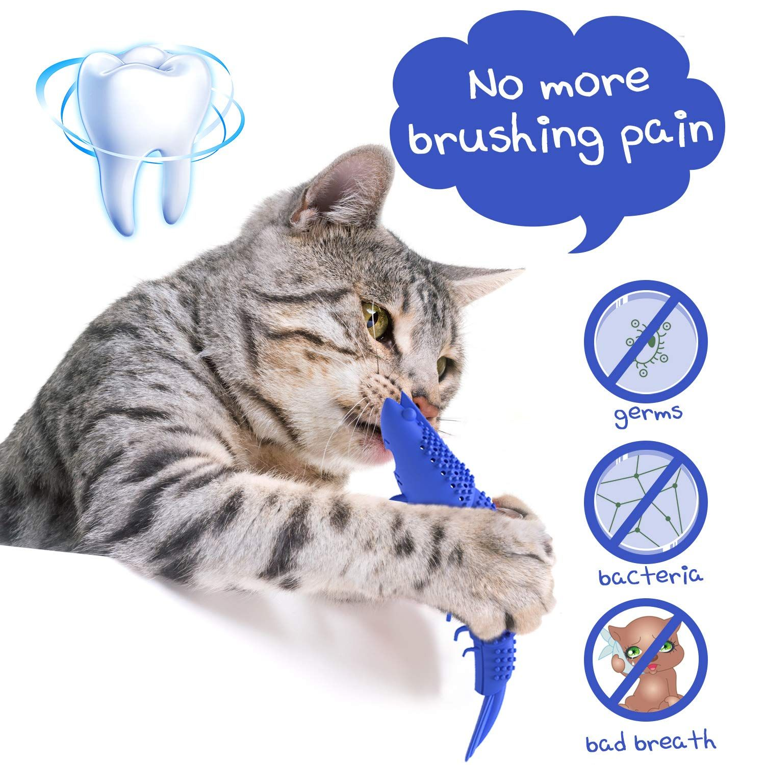 Ptrewod Cat Toys Interactive Cat Toothbrush Chew Toy Catnip Toys For Kitten Teeth Cleaning Shrimp Shape Molar Stick For Kitty Dental In 2020 Cat Toys Catnip Toys Cats