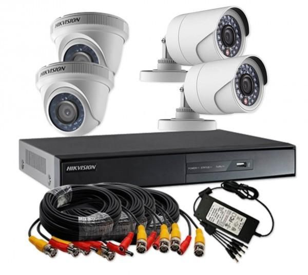 Hikvision Turbo HD 1 megapixel 720p 4 Channel CCTV Camera Kit DS ...