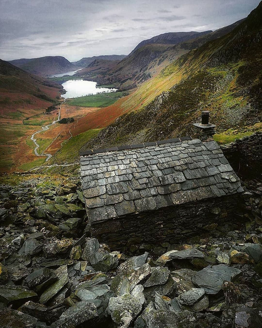 Lake District On Instagram Hewn From The Mountain Itself The Little Warnscale Head Bothy In Buttermere By Kennedy Imag Lake District Lake Beautiful Lakes