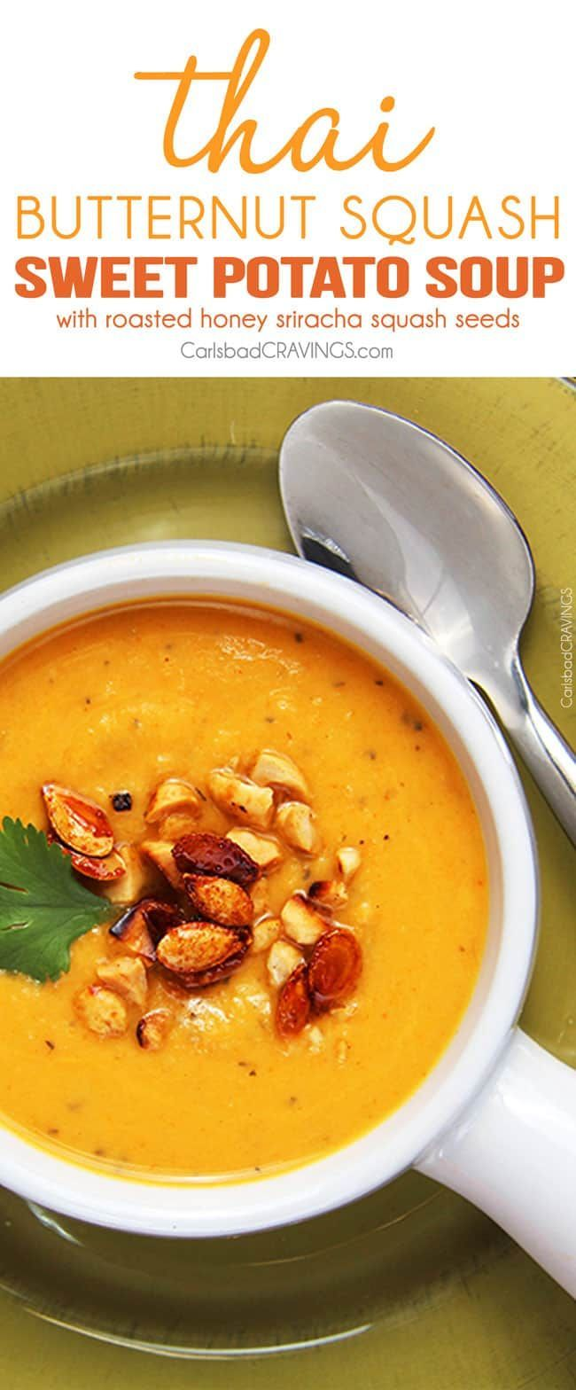 Curried Butternut Squash Soup #butternutsquashsoup