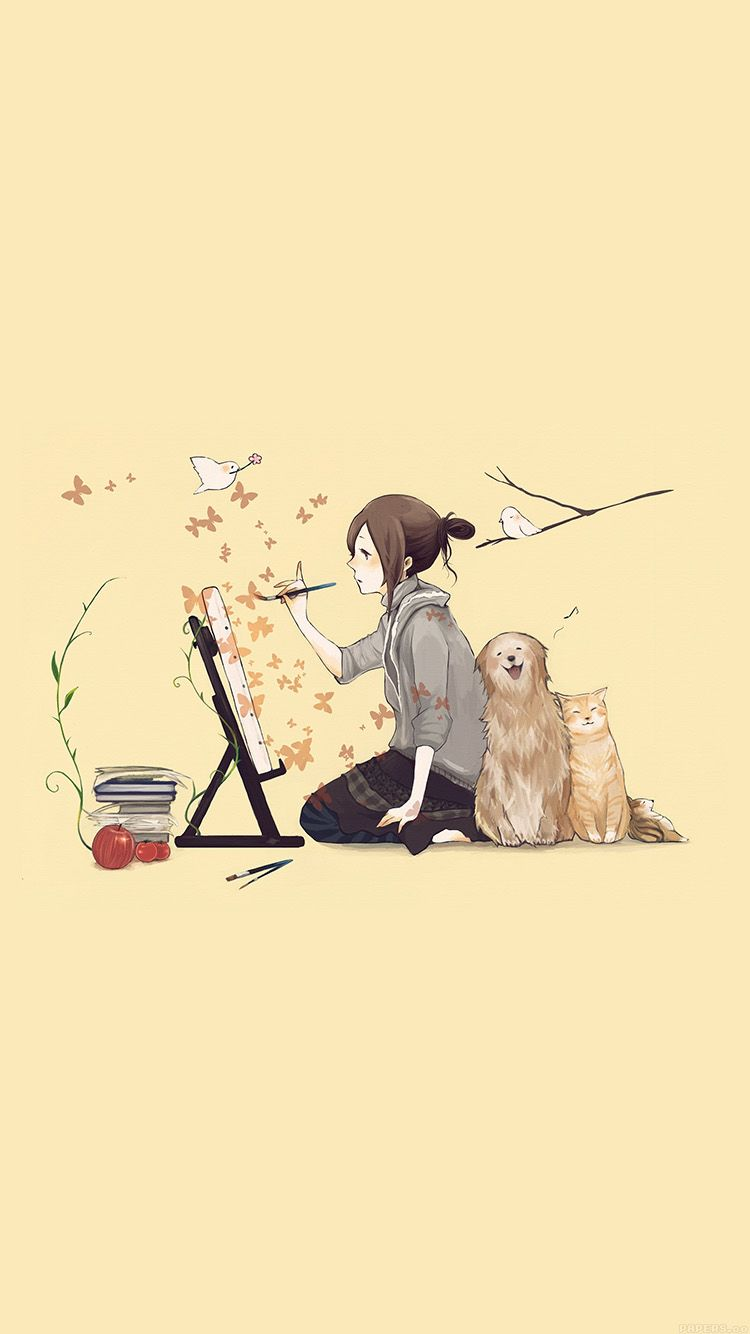 Tap And Get The Free App Anime Cartoons Girl Drawing Dog Cat