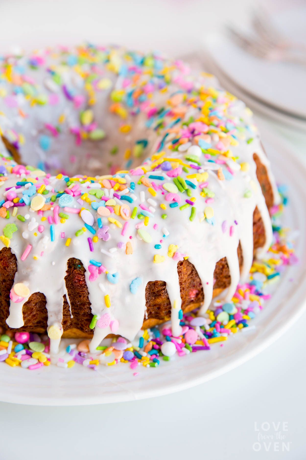 Funfetti Bundt Cake Cake Funfetti Sprinkles Love From The Oven