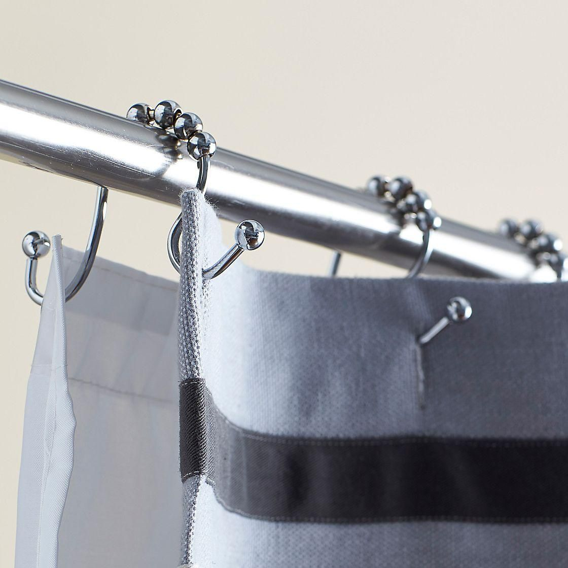 Double Roller Shower Curtain Hooks The Company Store Shower