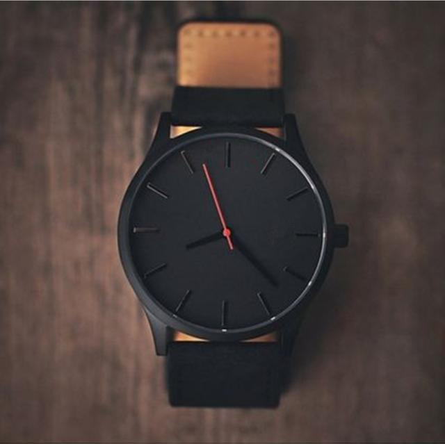 482d7ecd345 Reloj 2017 Moda Grande Dial Homens Relógio De Couro Do Esporte relógios de  Quartzo Militar Relógio de Alta Qualidade relógio de Pulso Relogio masculino  T3