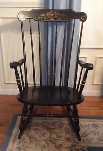 Exceptional Vintage S.Bent U0026 Bros Colonial Rocker Rocking Adult Chair Antique Gardner  Mass.