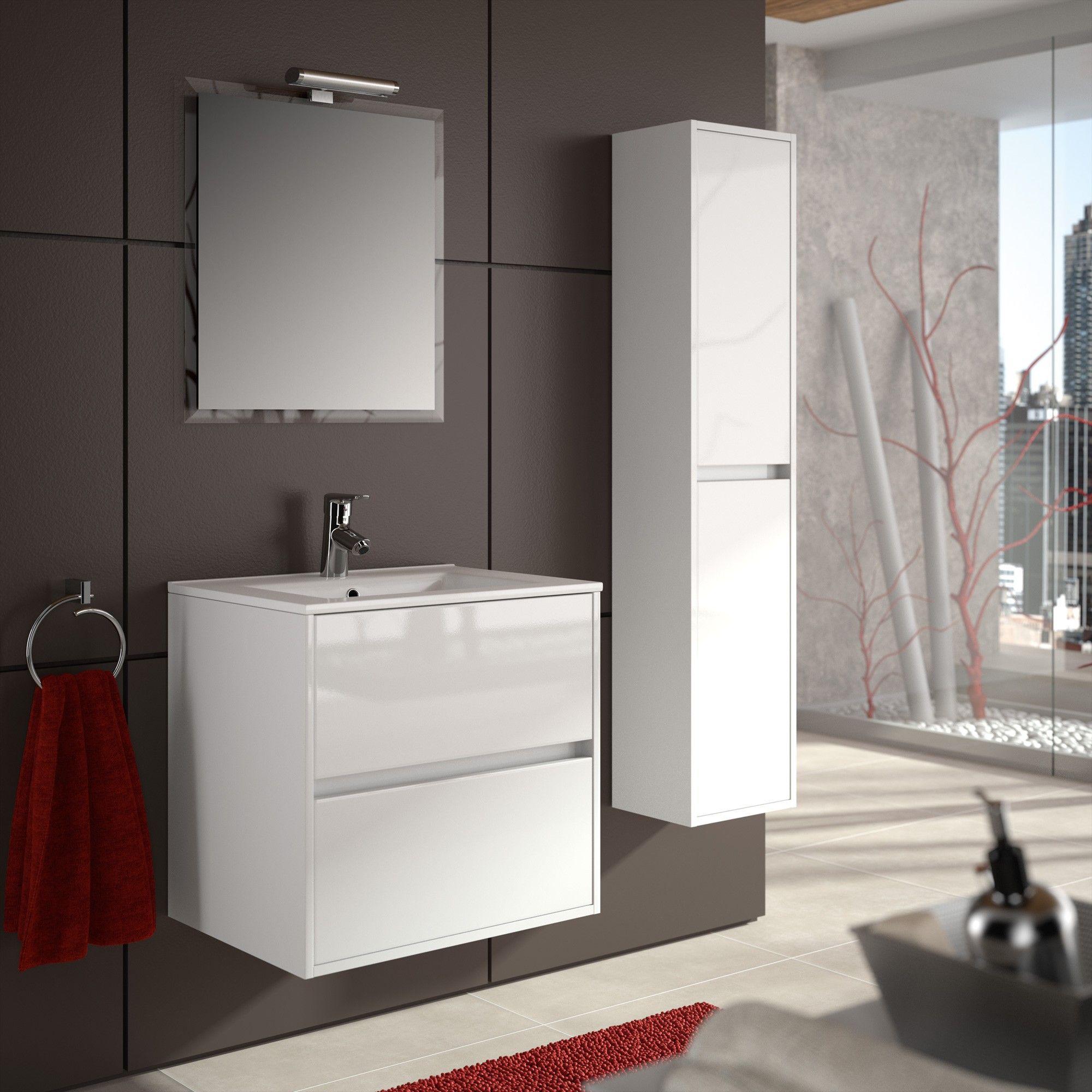 Meuble salle de bain blanc brico depot: meuble salle de bain ...