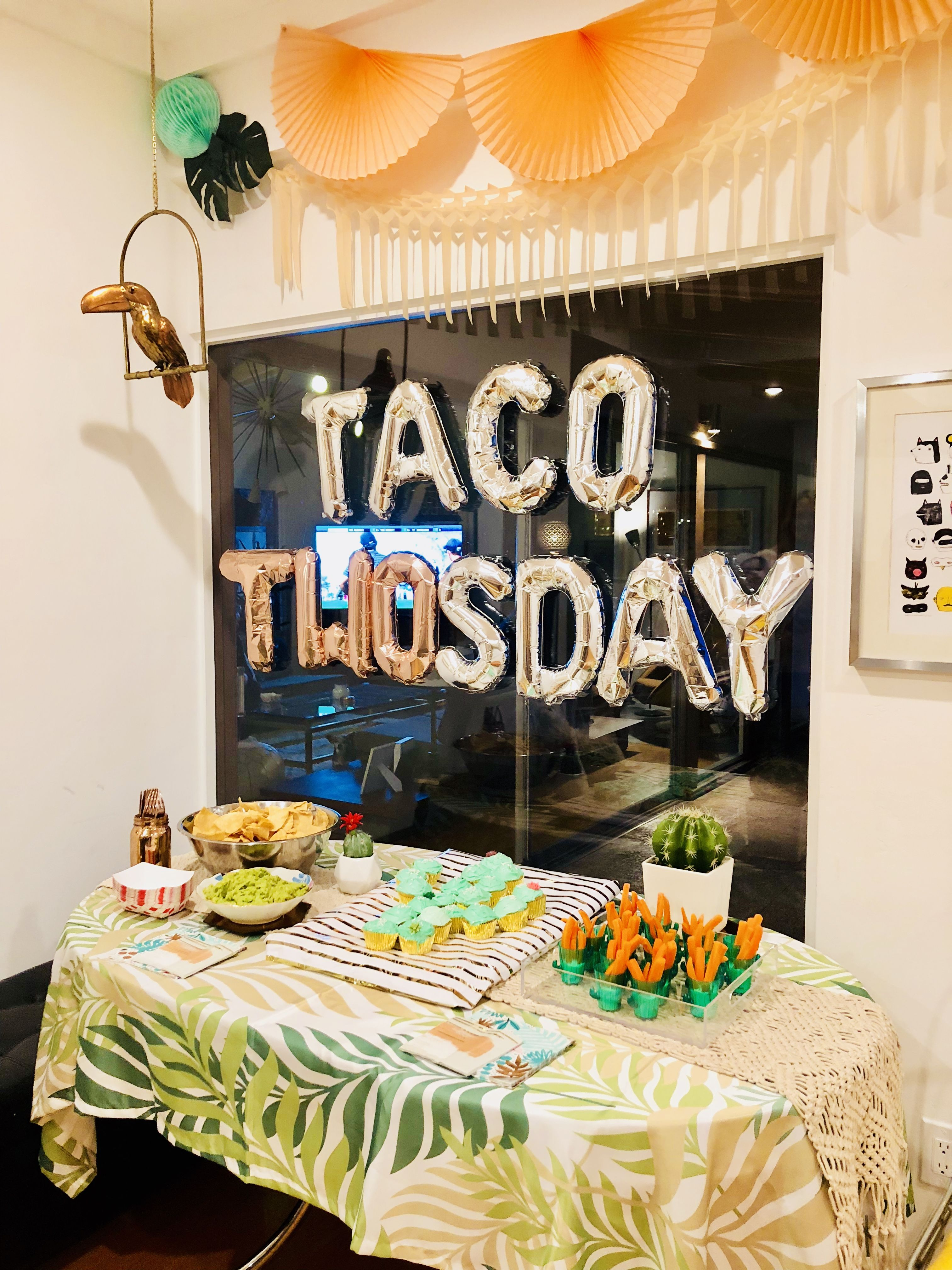 Taco TWOsday 2nd Birthday Party Decor Mexican Parties 2 Year Old