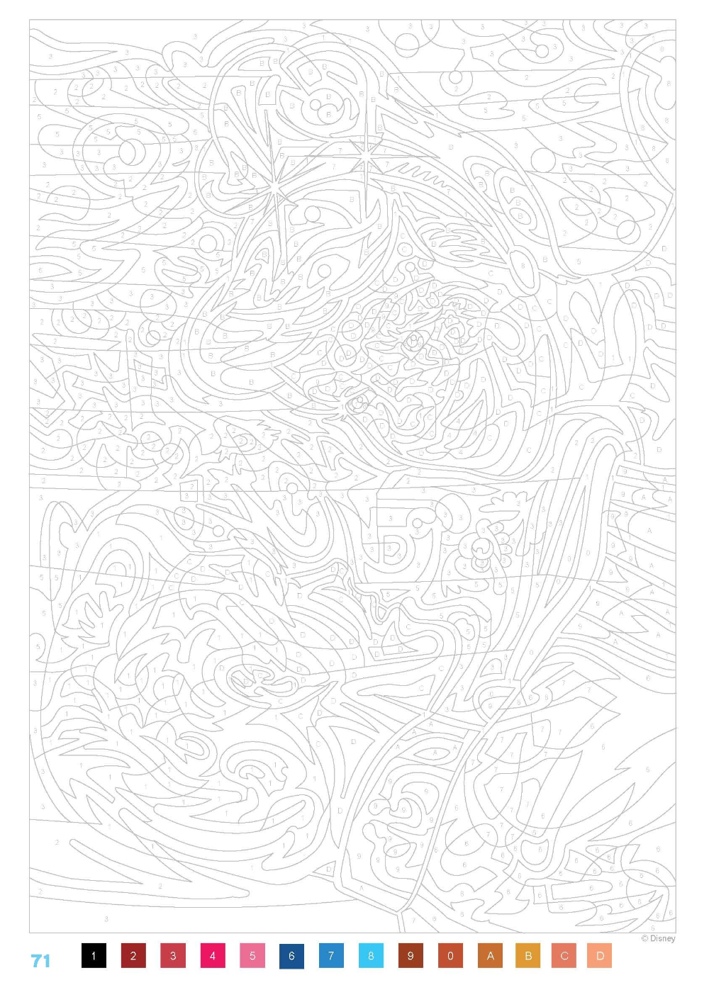Épinglé par Gabriela Zych sur Coloring by number printable