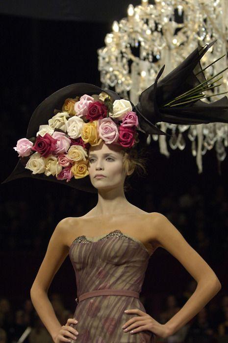 9d6d9c297bb Huge Flower Headpiece  Hat   Alexander McQueen  fashion  flowers  millinery