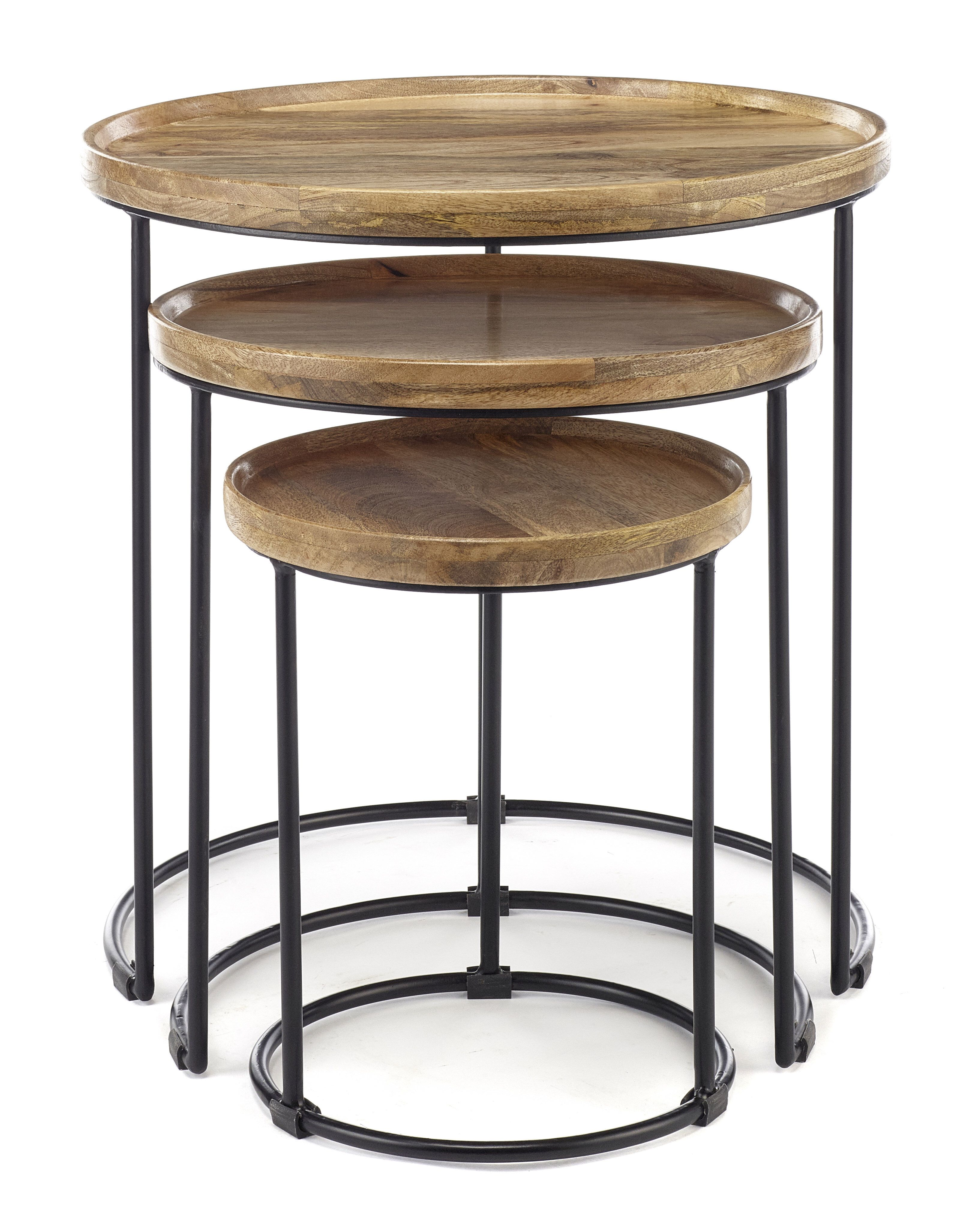 Alydar 3 Piece Nest Of Tables Side Table Side Table With Storage Table