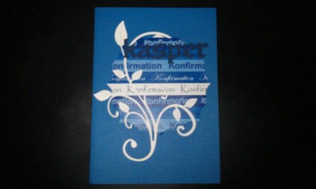 Konfirmationskort.