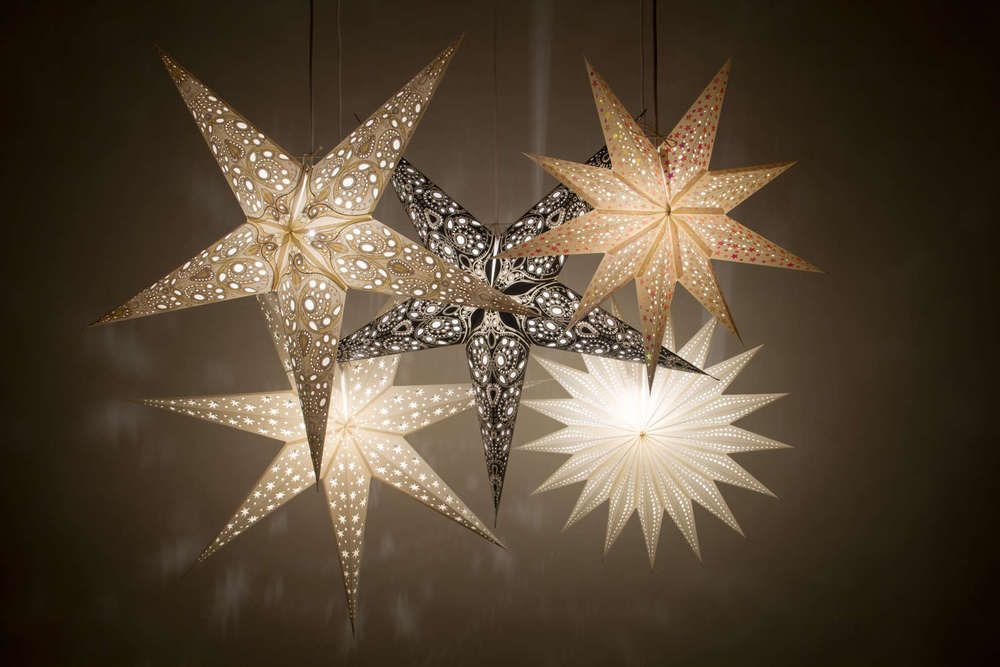 Details About Deluxe Paper Star Light Shades Hanging Ceiling