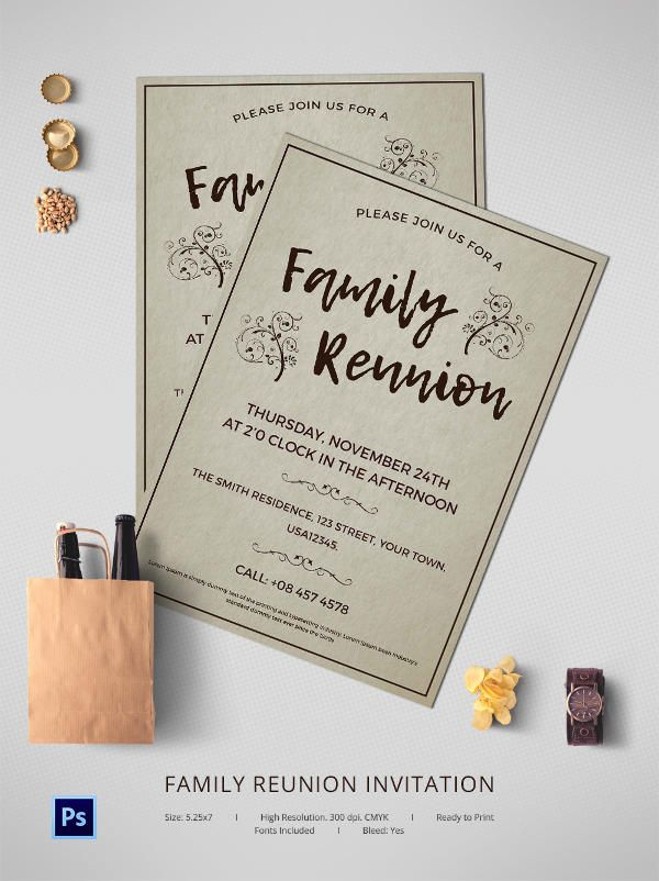 Family Reunion Invitation Template Family reunion Pinterest - family reunion invitation template