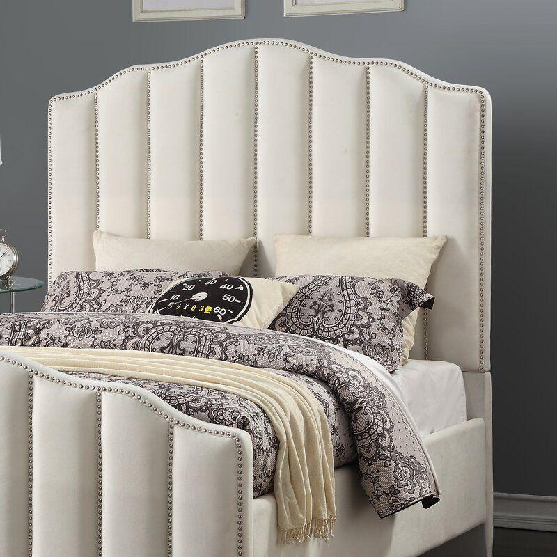 Everly Quinn Livilla Channeled Upholstered Standard Bed