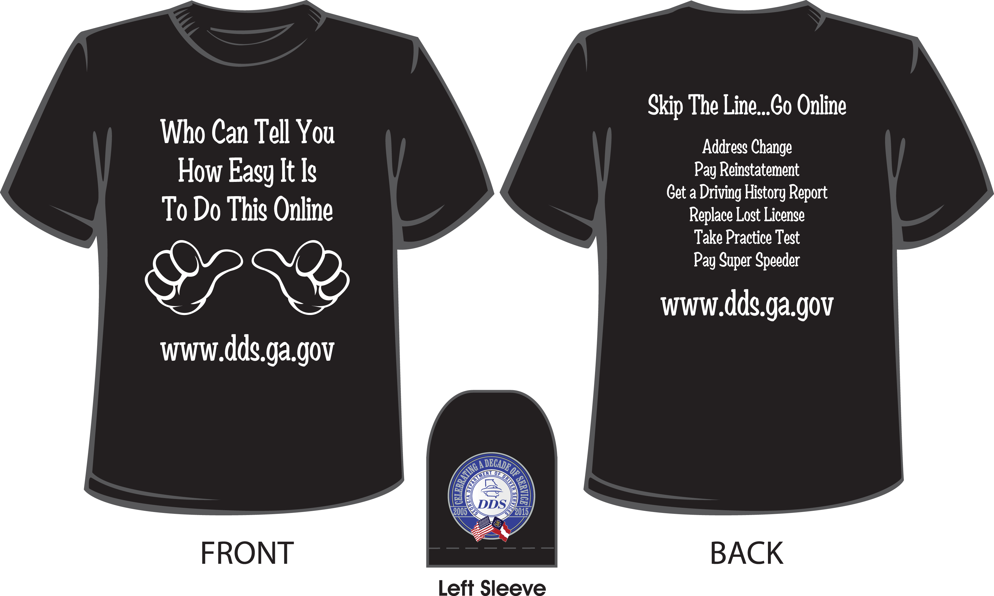 Georgia Dept of Driver Services T-shirt www dds ga gov | T