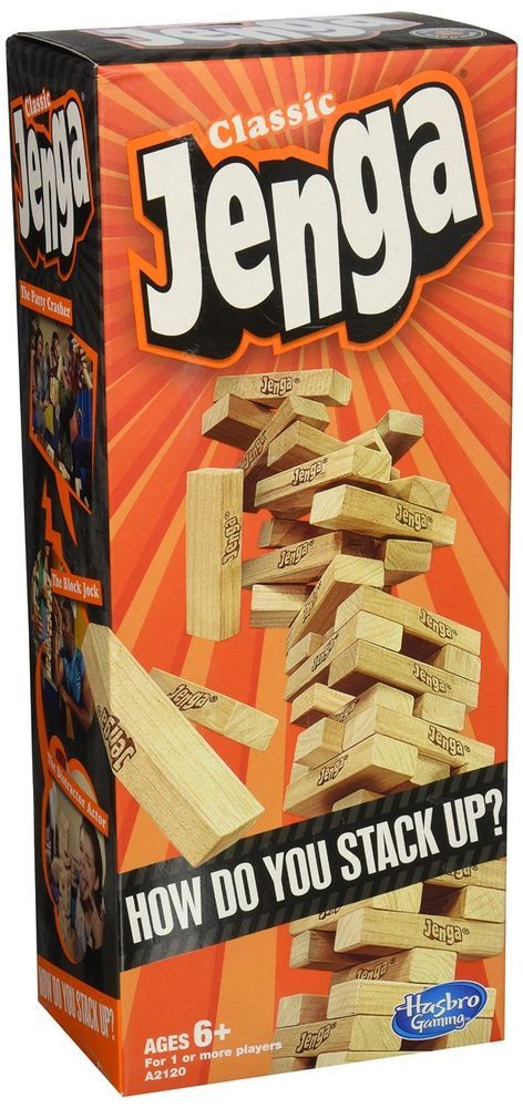 Hasbro Jenga Classic Wood Blocks Game Kids Game Free Shipping