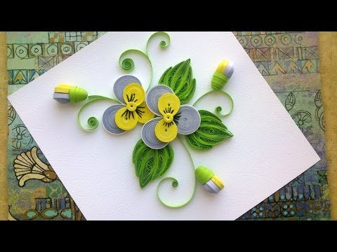 Quilling Paper Flower Tutorial: D.I.Y. Quilling Paper Pansy Flower Tutorial - YouTube