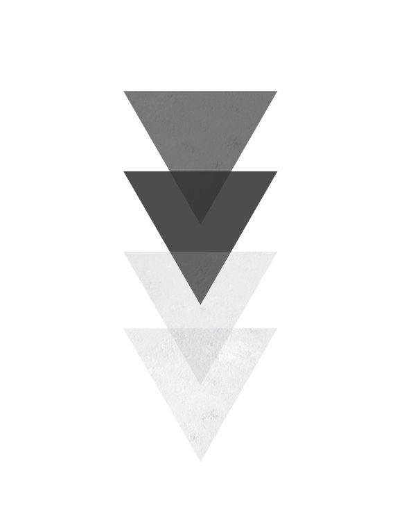 Black And White Triangle Wall Art Geometric By Melindawooddesigns Geometric Art Prints Geometric Wall Art Geometric Art