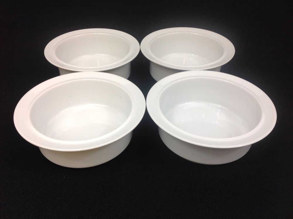 Dansk Cafe Blanc Four White Fruit Cereal Bowls Portugal