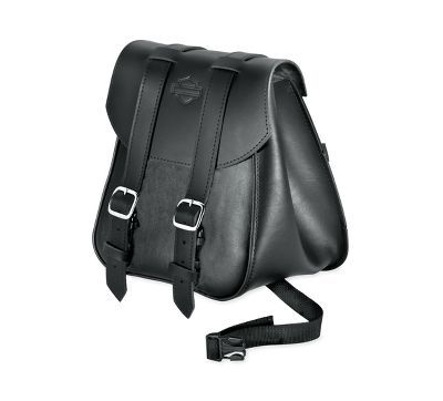 Motorcycle Saddlebags Side Luggage Tool Carry Sissy Bar Bag Deluxe PU Leather