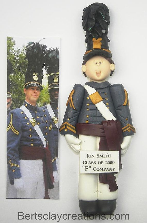 West Point Gifts Citadel Cadet Ornament West Point Ornaments West Point Firstie Ornament