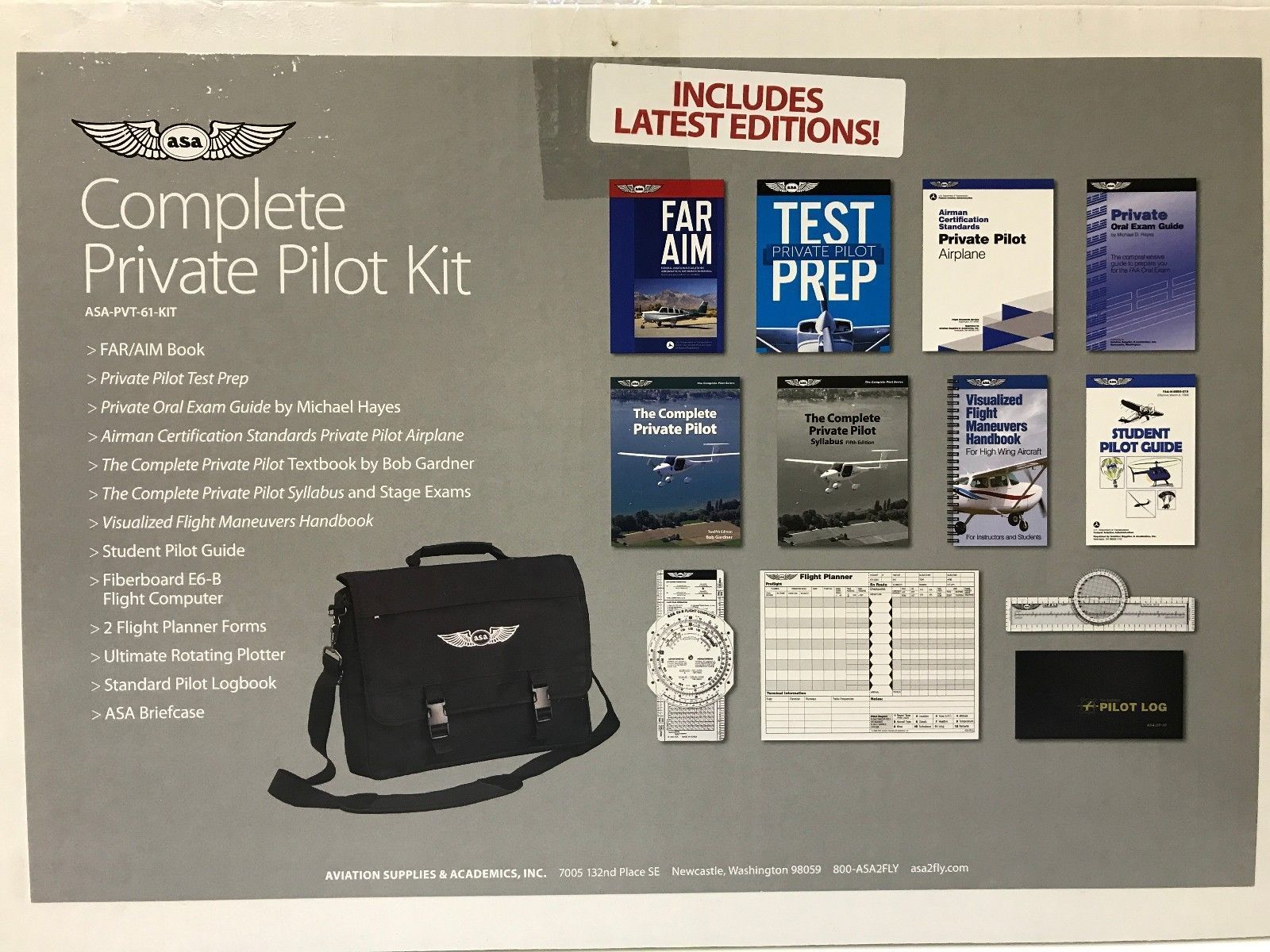 ASA, Complete Private Pilot Kit, Part 61, 2019 Edition, p/n