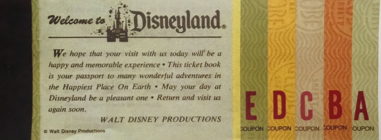 Disneyland ticket replica art etsy in 2020 disneyland