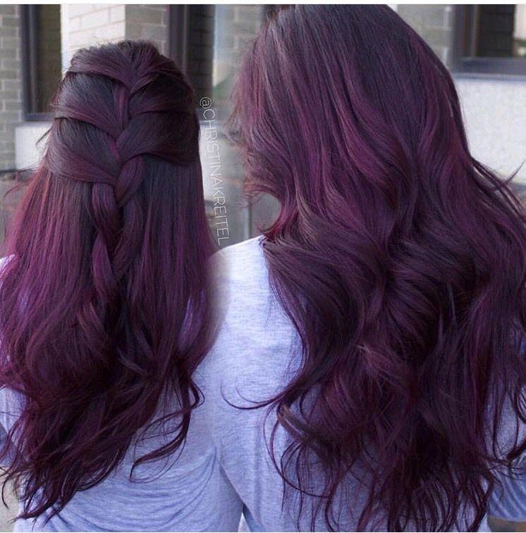 Violet Burgundy Hair Beauty Hair Inspirations Pinterest Hair