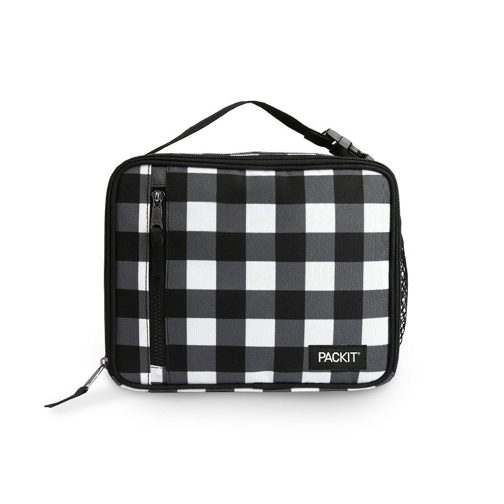 Packit Lunch Bag Black White Plaid Packit Lunch Bag Lunch Bag