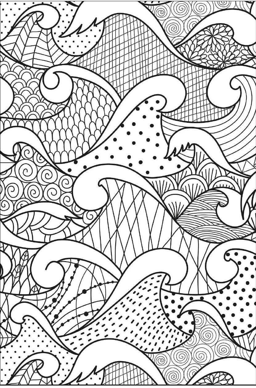 Ocean Waves Coloring Page ClippedOnIssuu Art Therapie