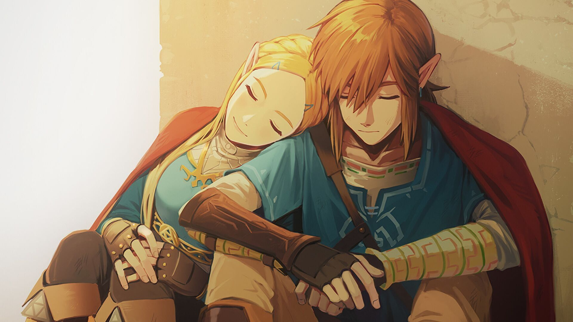 Man And Woman Animated Illustration The Legend Of Zelda Breath Of