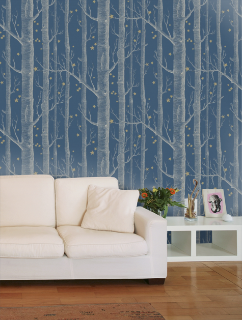 Woods And Stars Blue Bedroom Decor Cole And Son Cole And Son