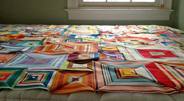 layout plan box stripes quilt
