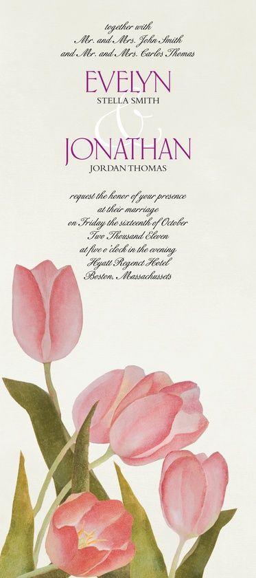 Wedding Invitations Fresh Tulips