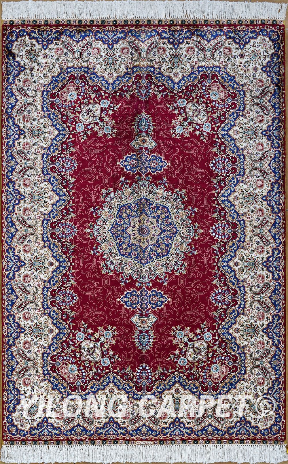 Red Persian Rug Oriental Turkish Carpet Silk Tabriz Rugs Hereke Area Materials