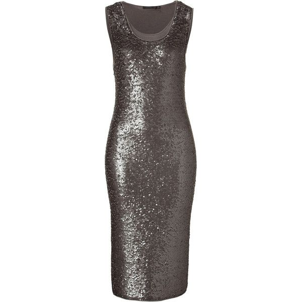 953a8abf052a DONNA KARAN Lunar All Over Sequined Cashmere Dress ( 1,403) ❤ liked on  Polyvore