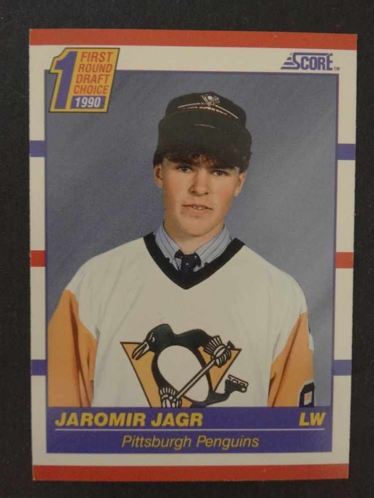 199091 score 428 jaromir jagr pittsburgh penguins rc