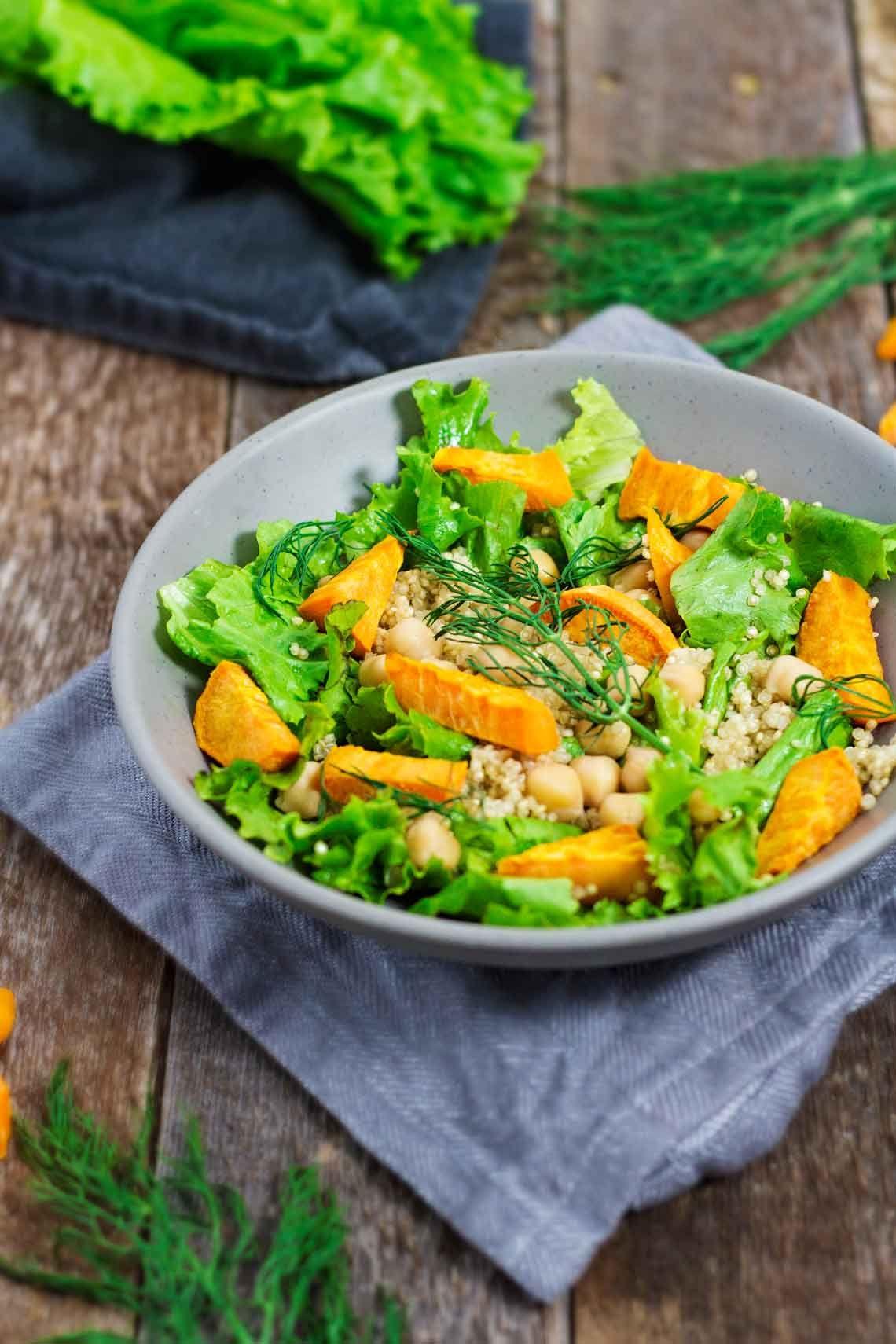 Sweet Potato Fennel Salad W Quinoa Chickpeas