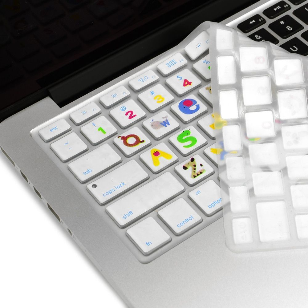 "New Air 13/"" Animal Letters Silicone Keyboard Cover for Macbook Pro 13/"" 15/"" 17/"""