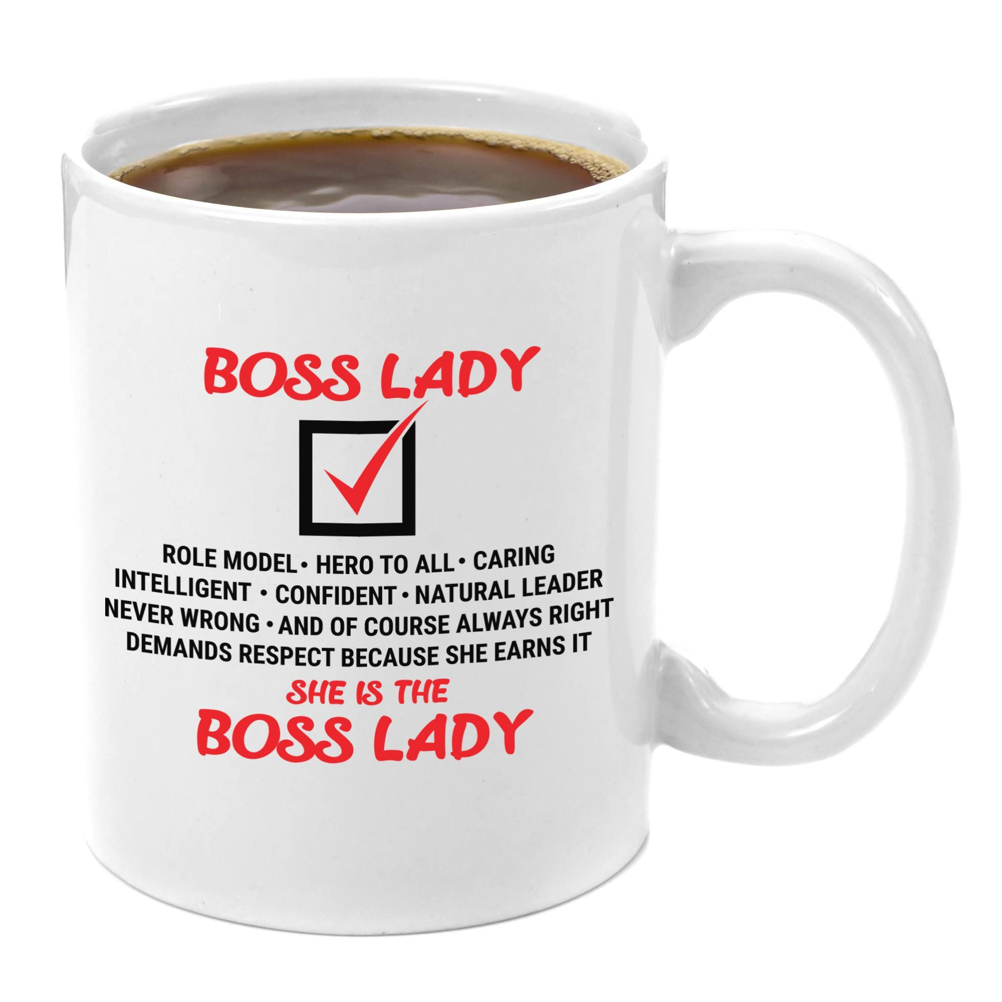 Best Presents For Ladies Part - 45: Boss Lady   Premium 11oz Coffee Mug Gift - Perfect Office Gifts For Her,  Best