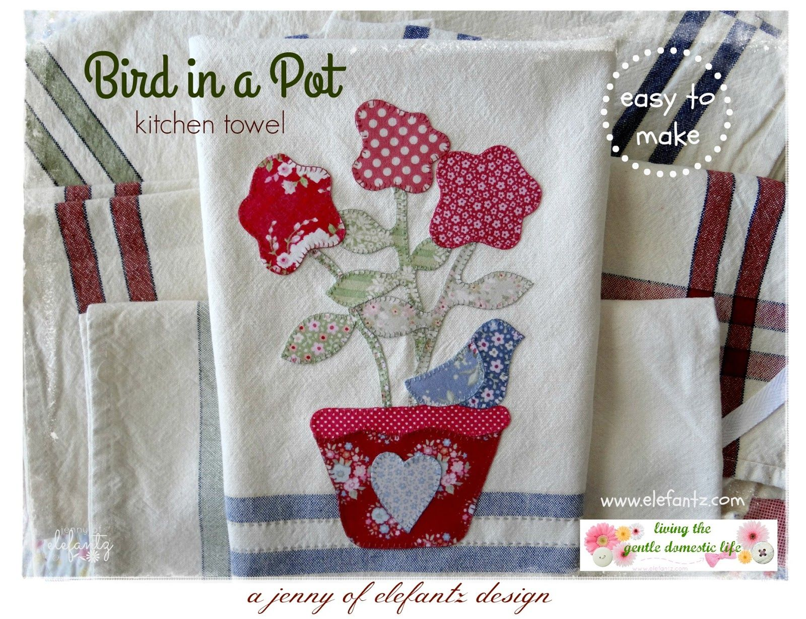 My new kitchen towels (and a pattern)... | Kitchen towels ...
