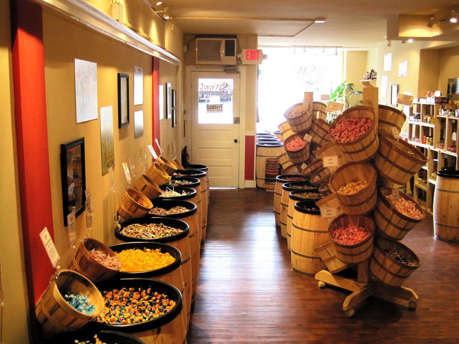Store Candy Display Barrels