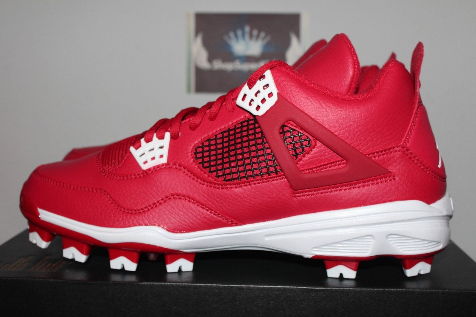 Nike Air Jordan IV 4 Retro MCS Gym Red/White Baseball Cleat 807709-601
