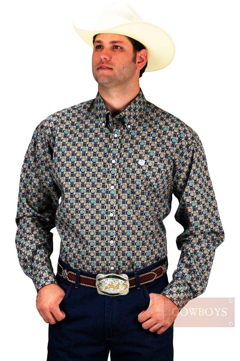 e802ad13a Camisa Cinch Manga Longa Estampada Floral. Camisa masculina manga longa  floral. Elegância