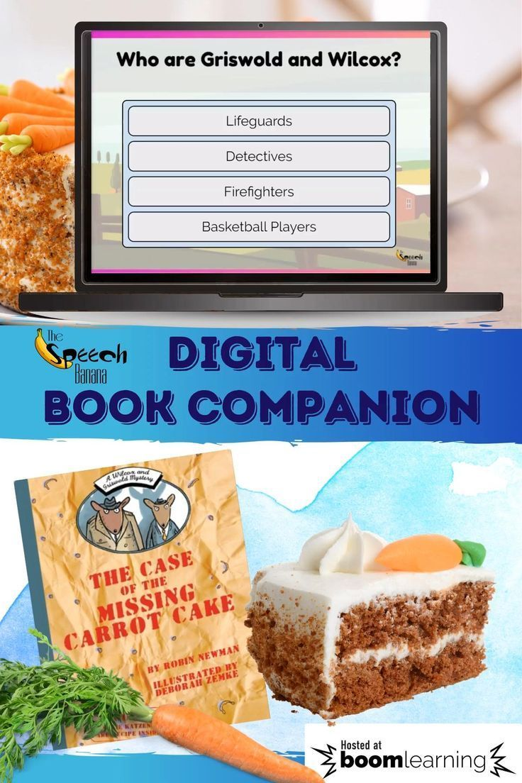 Speech therapy digital book companion the case of the