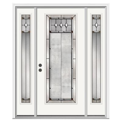 Jeld Wen 36 In X 80 In 12 Lite Primed Steel Prehung Left Hand Inswing Back Door Thdjw190900027 The In 2020 Steel Doors Exterior Exterior Door Styles Exterior Doors