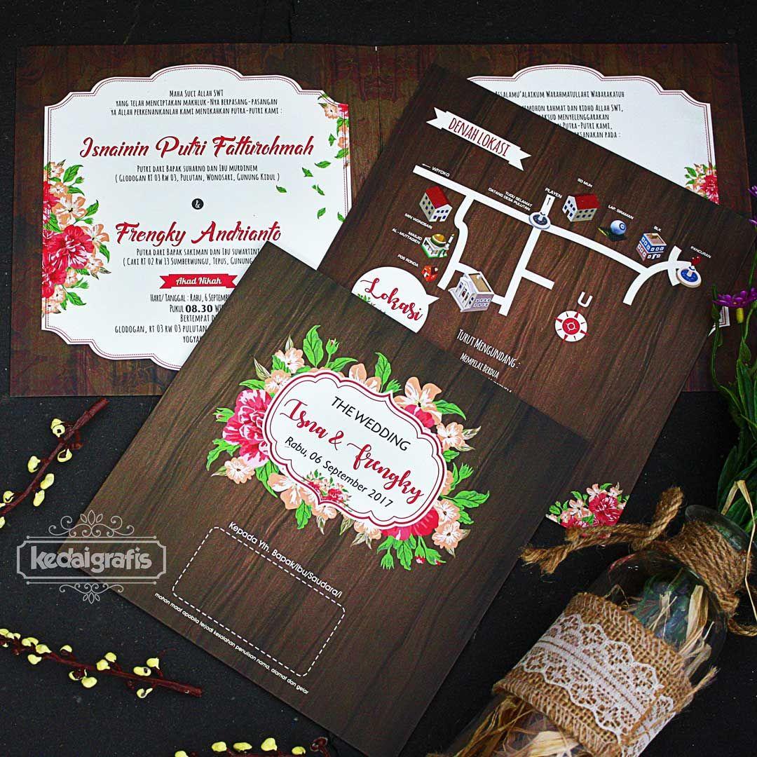 Desain Undangan Pernikahan Warna Hitam Kartu Undangan